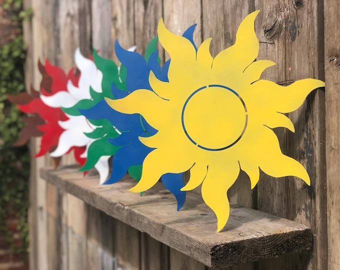Rustic GARDEN SIGNS , SUN garden feature , novelty girts , garden decor , rustic house signs , outside wall art , fun gifts , garden gift