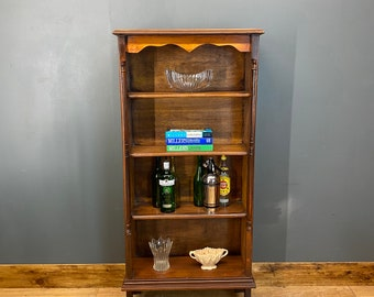 Vintage Wooden Bookcase / Shelved Unit  / Display Unit  /  Rustic Bookcase
