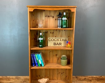 Rustic Tall Vintage Bookshelf Bookcase Shelves Shelving Storage Pine Wooden