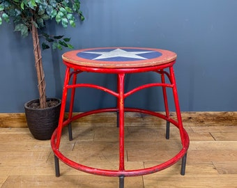 Vintage Circus Elephant Stand / Circus Table / Ringmaster Prop / Carnival Table