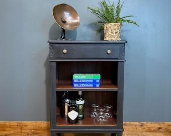 Vintage Bookcase / Rustic Shelving Unit / Drinks Cabinet /  Display unit / black