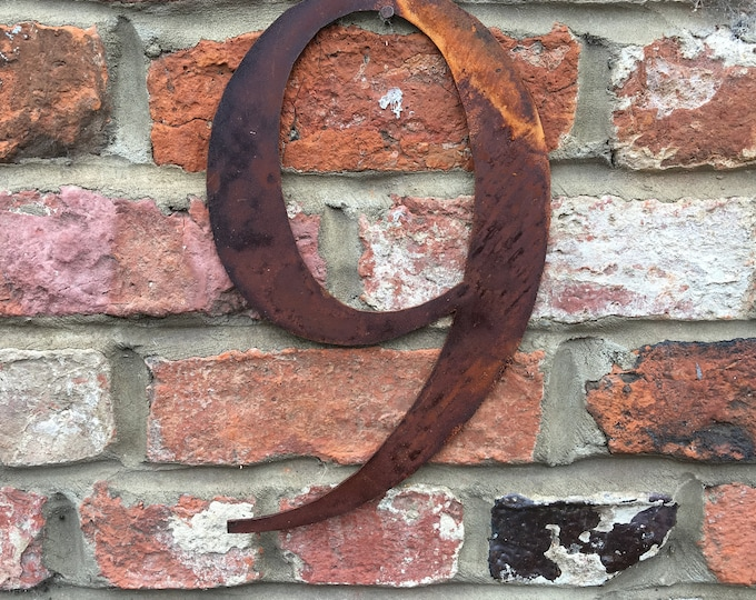 9 Rusty metal letters, shop signage, initials, house sign garden name, lettering, rusted, industrial, vintage, numbers barbers, home, love,