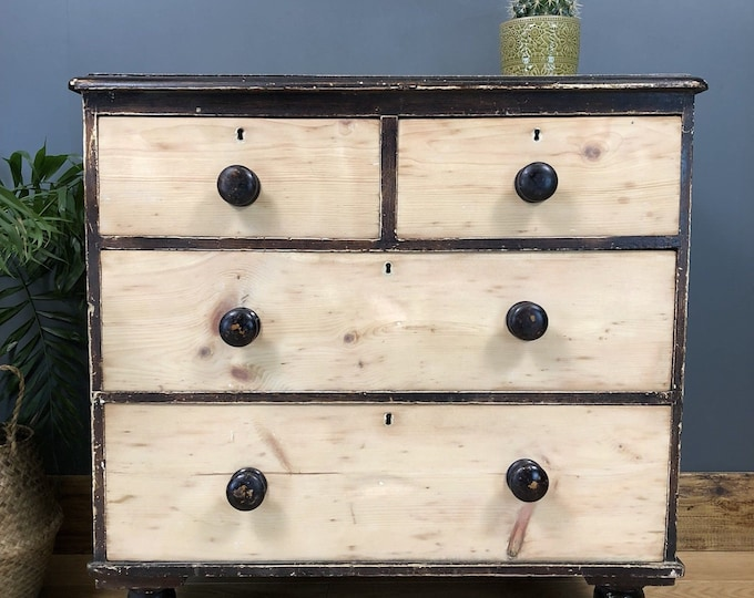 Shabby Chic Drawers Rustic Vintage Painted Distressed Antique Pine