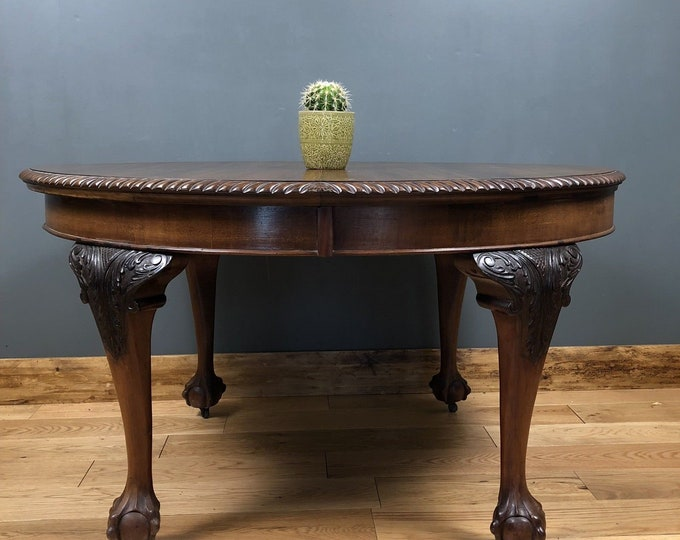 Antique Round Mahogany Table Victorian