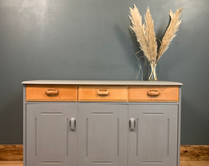 Vintage Sideboard / Painted Sideboard / Priory Cupboard / Shabby Chic Drawers