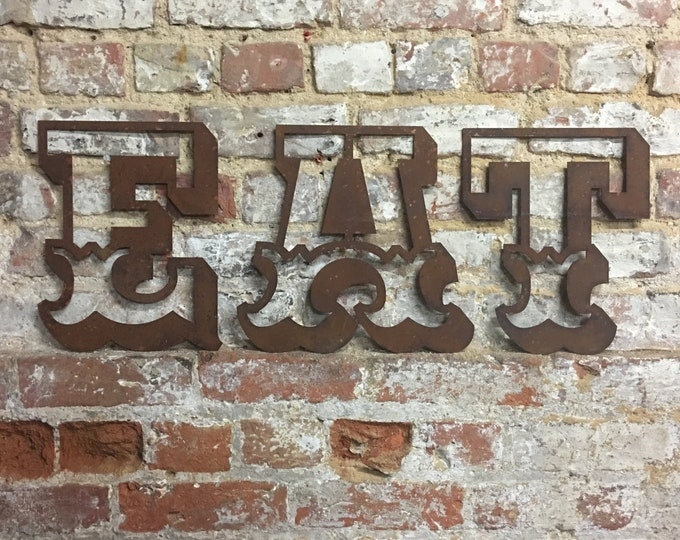 EAT Rusty metal letters, kitchen wall sign , home decor , EAT sign , carnival letters , fairground sign , kitchen decor