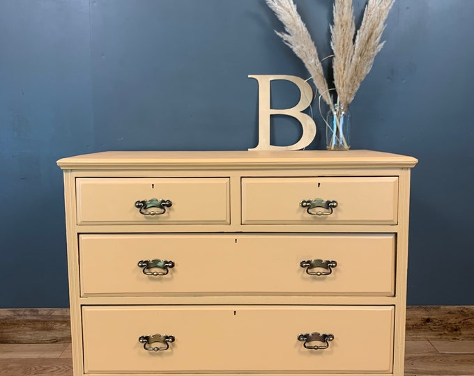 Chest Of Drawers / Painted Drawers / Bedroom Storage/ Shabby Chic/ Painted Peach