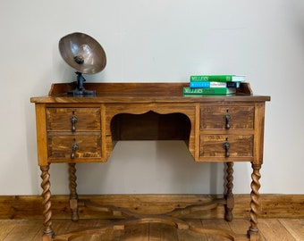 Vintage  Writing Desk / Antique Style Sideboard / Console /Home Office Desk