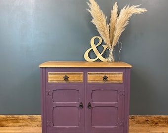 Vintage Sideboard / Painted Sideboard / Shabby Chic Cabinet / Purple
