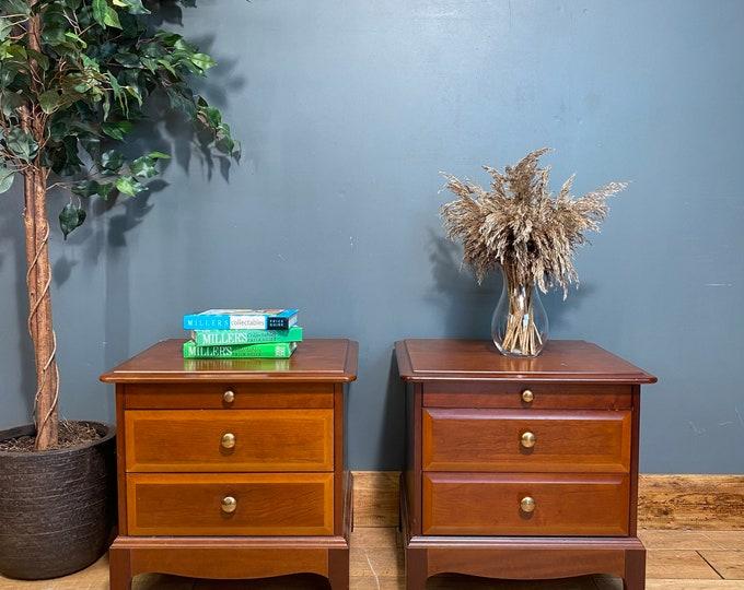 Pair Of Retro Bedside Drawers / STAG Drawers / Vintage Bedside Tables  / Storage
