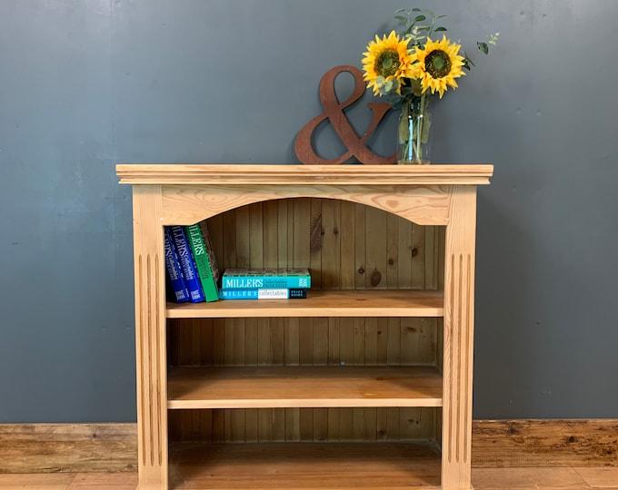 Rustic Vintage Bookshelf Bookcase Shelves Shelving Storage Pine Wooden Shef