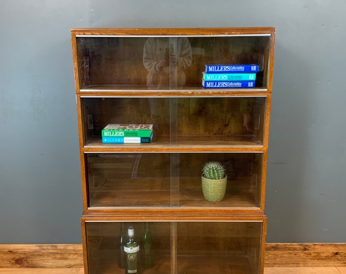 Retro Bookcase / Retro Shelves / Made By Minty /Oak Stacking Units / Vintage
