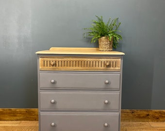 Vintage Chest Of Drawers / Painted Drawers/ Rustic Chest Of Drawers / Priory
