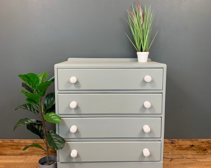 Chest Of Drawers / Painted Drawers / Bedroom Storage/ Shabby Chic/ Blue Grey