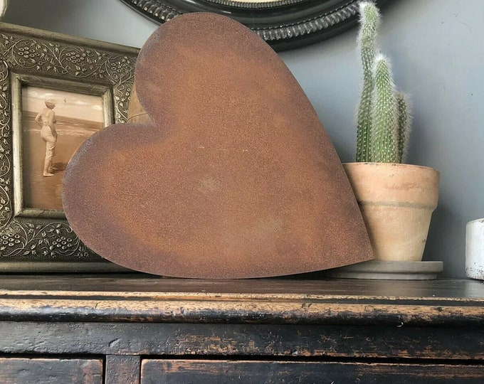 12inch rustic Heart decoration , rusty metal home decor ,