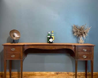 Edwardian console table / Rustic Console Table / mahogany sideboard / hall table