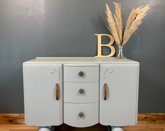 Art Deco Sideboard / Painted Sideboard / Shabby Chic Cupboard / Rustic Cupboard