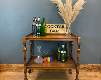 Retro Tea Trolley / Cocktail Trolley / Retro Home Bar/ Shabby Chic Display