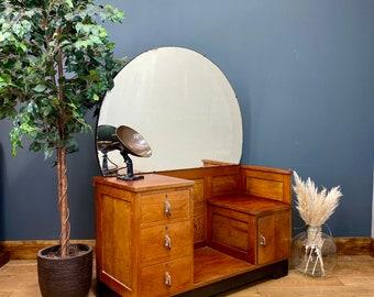 Antique Art Deco Chest Of Drawers / Bedroom Dresser / Art Deco Dressing Table