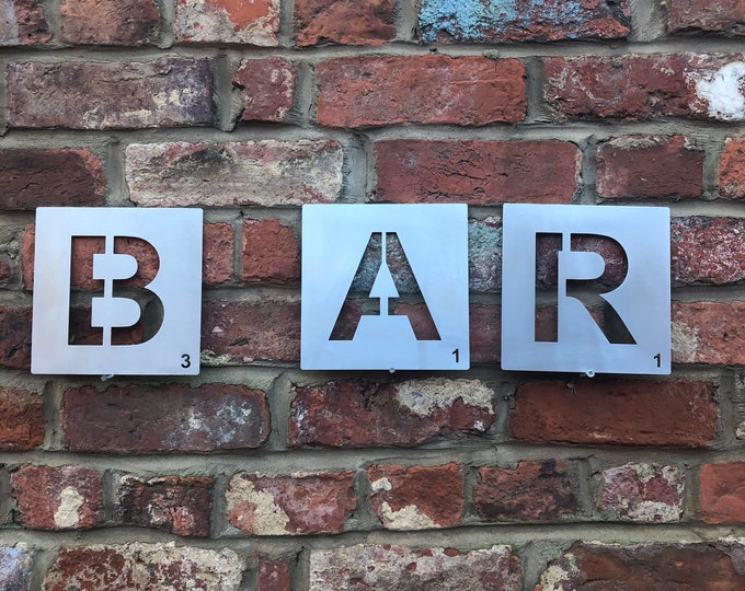 METAL BAR SIGN , bar letters, vintage bar decor , garden bar sign , home bar sign , bar accessories,