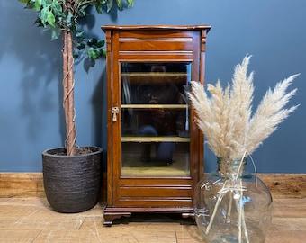 Antique Edwardian Cabinet /mahogany Cabinet / Sheet Music Cupboard / Glazed Cabinet / Mahogany Cupboard / Antique Cupboard