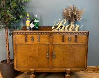 Rustic Oak Sideboard / Oak Cupboard / Rustic Console Table / Buffet Server