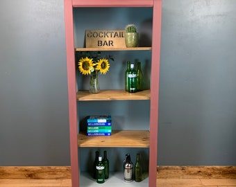 Vintage Bookcase / Painted Bookcase / Rustic Larder / Home Bar / Kitchen Pantry