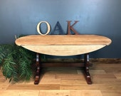 Oak Table Refectory Dining Table Drop Leaf Kitchen Rustic Sideboard