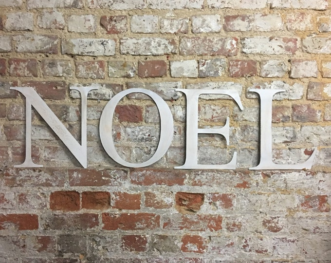 Rustic NOEL Lettering Letters Sign Metal Shabby chic Christmas decoration Distressed Vintage Window Display Boho