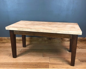 Oak Coffee Table / Vintage Coffee Table / Shabby Chic / Rustic Coffee Table / Country Style /Farmhouse Rustic