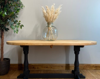 Vintage Oval Pine Table /Rustic Table /Dining Table / Shabby Chic Kitchen Table