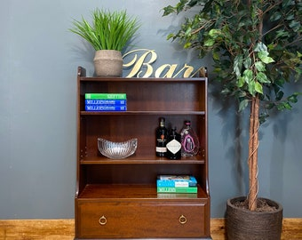 Vintage Stag Bookcase / Stag Minstral Shelving Unit  / Display unit/ Waterfall