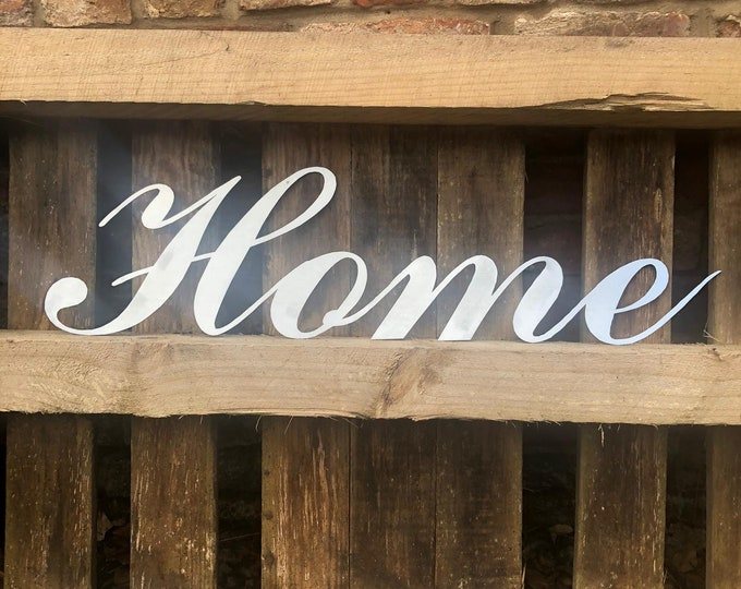 Steel HOME Word Sign / Metal Industrial Kitchen / Home Sign / Galvanised