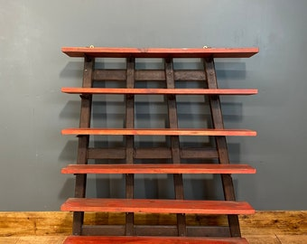 Rustic Shelving Unit / Upcycled Harrow / Spice Rack / Kitchen Shelves