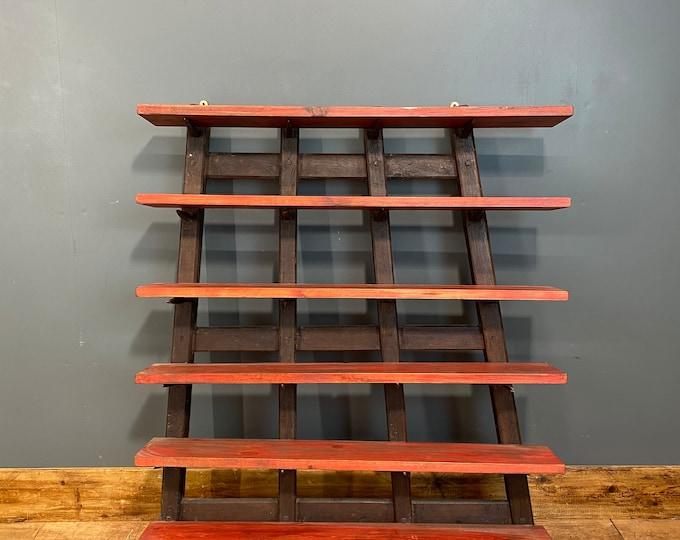 Rustic Shelving Unit / Upcycled Harrow / Spice Rack / Kitchen Shelves