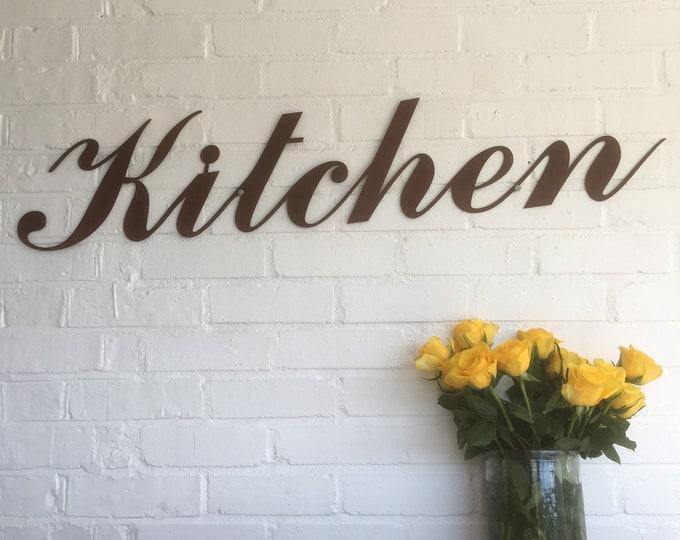 Rusty KITCHEN Lettering Letters Sign Metal Home bar Pub Vintage Wedding