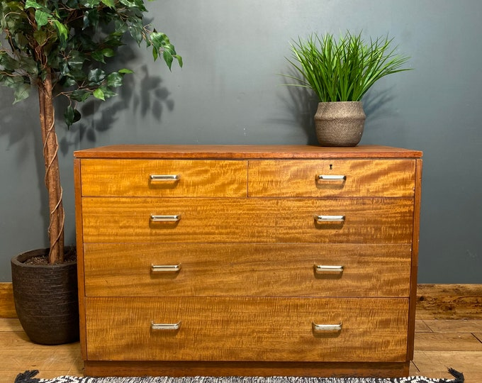 Retro MOD Military Chest Of  Drawers / War Department / Rare 1969 / Vintage
