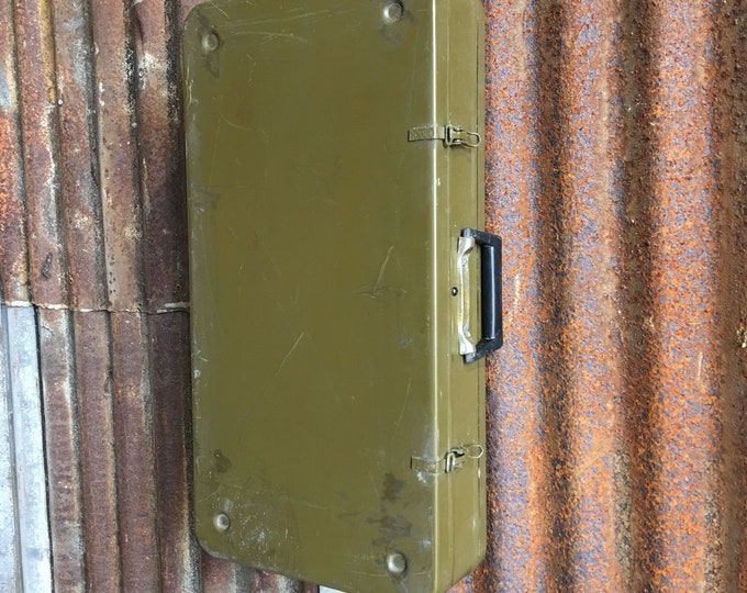 Vintage Military Trunk Box Suitcase Cabinet Cupboard Upcycled Kitchen Bathroom