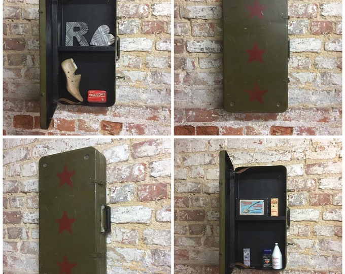 Vintage Military Suitcase / Army Case / Wall Locker /  Bathroom Cabinet / Kitchen Cupboard / Upcycled Kitchen Bathroom