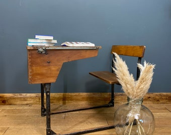 Vintage School Desk / Home Schooling Desk / Child's Desk / Antique Desk A