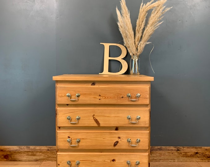 Pine Chest Of Drawers / Rustic Drawers / Solid Pine Drawers / Bedroom Storage