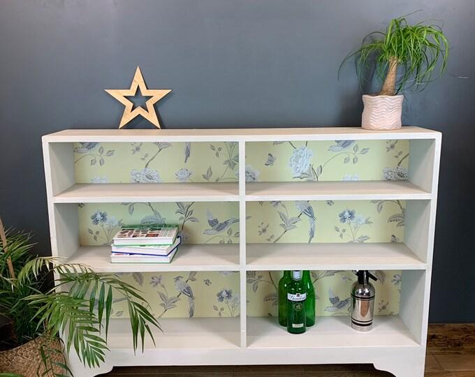 Rustic Vintage Bookcase Shelves Shelving Storage Pine Wooden Unit Painted