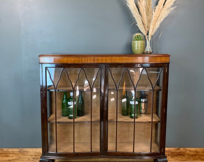 Vintage China Cabinet / Drinks Cabinet / Cocktail Cupboard / Home Bar / Gin