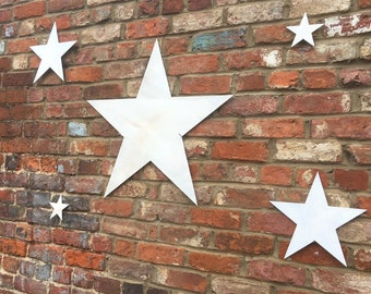 5 Rustic STARS Lettering Letters Sign Metal Shabby chic Christmas decoration