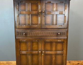 Vintage Priory Cabinet / Drinks Cupboard / Cocktail Cabinet / Oak Cupboard