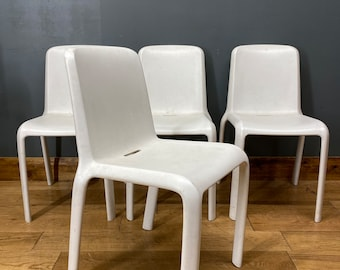 Pedrali SNOW stacking DChairs / Retro Style Dining Chairs /set Of Four