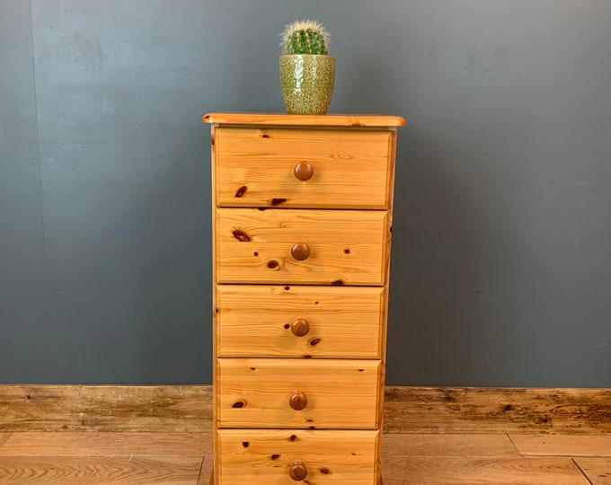 Pine Chest Of Drawers / Slim Drawers / Rustic Drawers / Bedroom Storage / A