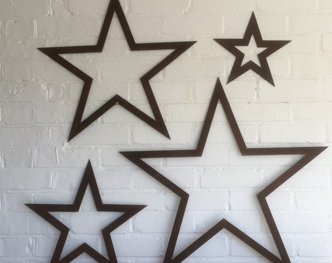 4 rusty metal barn Stars Sign set , metal stars , Shabby Chic signs , Rustic Decoration , House , Home , Garden Feature ,Traditional Vintage