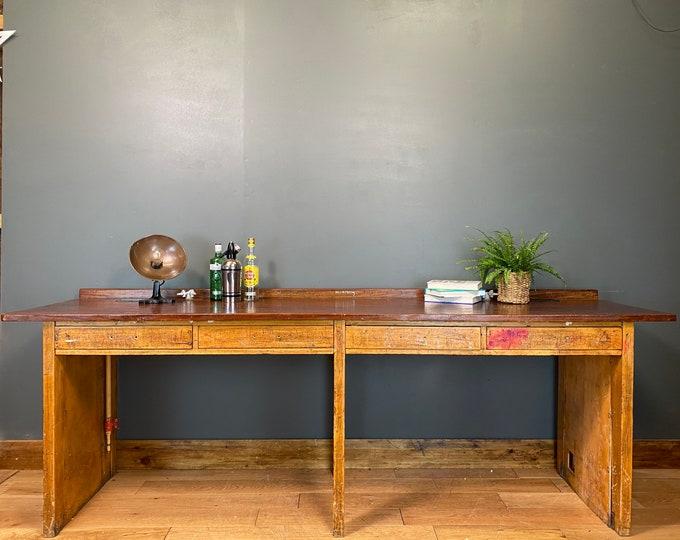 Vintage Kitchen Bench / Kitchen Table Island / School Lab Bench / Work Bench C