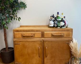 Rustic Oak Sideboard / Oak Art Deco Sideboard / Oak Buffet Server